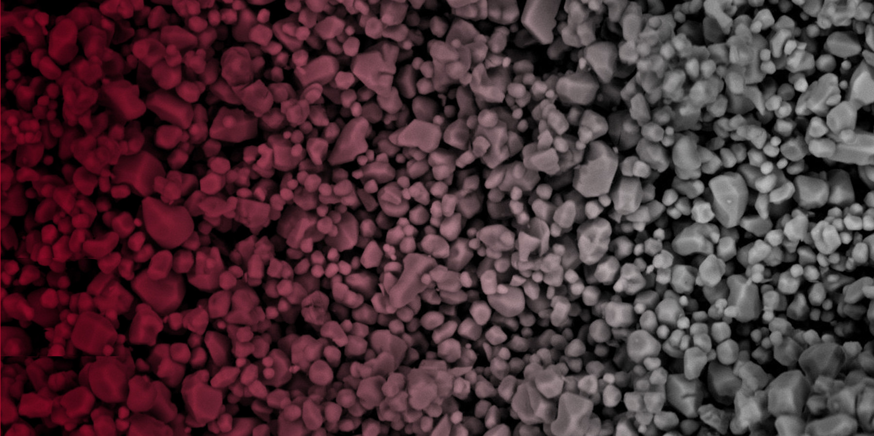scanning electron microscope image of phosphor particles